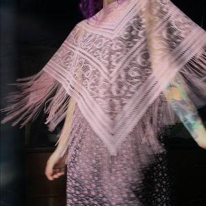 Vintage poncho shawl